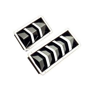 Rostfritt stål kompakt infällda luftventiler 210 x 110