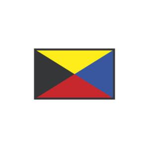 Signalerande flaggor: Z ZULU 40X60CM